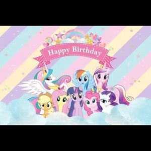 Pony backdrop 5x3ft brand new